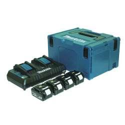 Kit 4 Baterias 4,0Ah multicargador y maletin Makpac