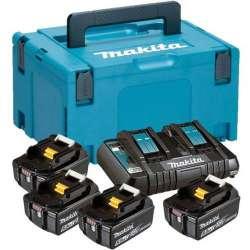 Kit 4 Baterias 5,0Ah multicargador y maletin Makpac