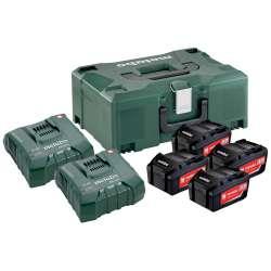 Set básico 4 x 5.2Ah + 2 x ASC Ultra + Metaloc (685106000) Metabo